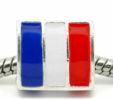 FRANCE FLAG FRENCH European Bead Charm World Cup Championship Olympics Bracelet