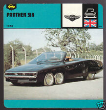 1978 PANTHER SIX 6 Wheel Car Picture AUTO RALLY CARD