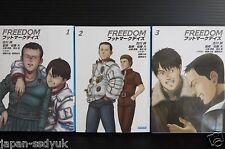 Japan novel: Freedom Footmark days vol.1~3 Complete set