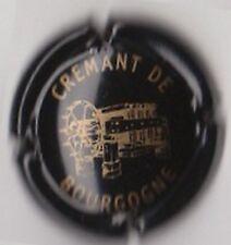 capsule mousseux CREMANT de BOURGOGNE, noir et or