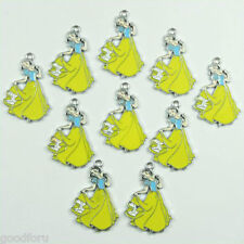 Lot Wholesale 10pcs Princess Snow white Metal Charms Pendants DIY Jewelry Making