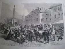 Italy Piedmont army leaves Chambery Savoy 1860 old print