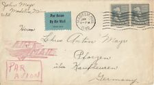 US, airmail commercial cover to Germany 1940, nice airmail hand stamp