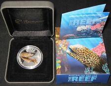 2010 ~PERT MINT MORAY EEL ~THE REEF AUSTRALIAN SEA LIFE ~SILVER ROUND ~CASE ~COA