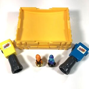 VTG 1987 Tomy SPINJAS Yellow Arena with 2 Launchers & 2 Spinjas Complete Works!