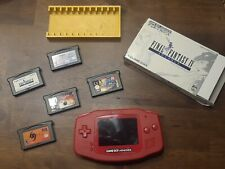 Nintendo Game Boy Advance modded Backlight LCD IPS red shell, bottons and Games!