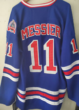 NWT Mark Messier New York Rangers Throwback Blue Jersey CCM Size Medium (48)