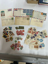 Lot of collectible U.S. and Worldwide postage stamps, imprints and covers