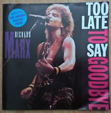"""RICHARD MARX - 12"""" - Too Late For Goodbye LIMITED Live Souvenir Poster.  EMI USA"""