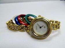 Vintage Gucci 1100-L 5 Interchangeable Bezel Rice Link Watch- Works