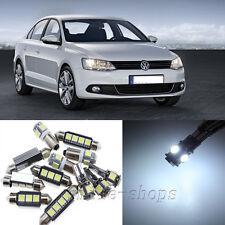 Error Free White 12pcs Interior LED Light Kit for 2011-2013 VW Jetta 6 MK6 VI