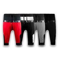 NEW Men Jogger Shorts Capris Joggers Short Mesh Zipper Pocket 2 tone Size S-2XL