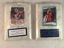 Lot of 2 Basketball Hall of Fame Trading Card Plaques - Wade & Carmelo