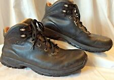 UGG Australia Mens 9 Black Leather Waterproof Event Tie Ankle Boots S/N 5639 EUC