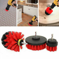 Power Scrubber Drill Brush Red Cleaner Spin Bathroom Tub Shower Tile Grout Wall