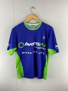 Avanti Plus Launceston Mens Blue Green Short Sleeve Cycling T Shirt Size Small