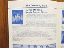 1984 Bentley Coll Women's Basketball Guide(12 Sign/KATHY SANBORN/KIKI PAPAGIOTIS