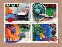 = OCEAN AEROSPACE BIO INFORMATION Canada 1595-1598 Block of 4 MNH 1996 q01