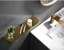 Basket Storage Shelf Brass Bathroom Brushed Gold Shower Caddy Platform Toilet