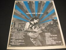 Santana The New Spirit Is Freedom original 1987 Promo Poster Ad mint condition