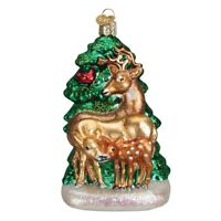 Old World Christmas Deer Family Glass Ornament 12406 Decoration FREE BOX New