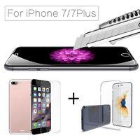 für iPhone 7 /8 Plus 3D gehärtetem Glas Displayschutzfolie + TPU Fallabdeckung