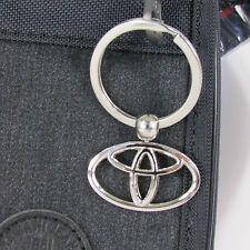 "New collectors metal key chain silver metal toyota about 2.25"" Classic desinged"