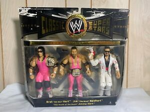 WWE Hart Foundation Classic Superstars 3-Pack JAKKS Pacific NEW Sealed WWF Bret