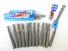 15 Piece 14 Solid Carbide End Mill Lot Garr And Atrax