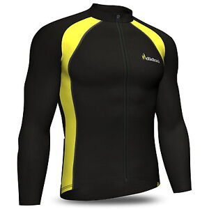 Didoo Mens Long Sleeve Cycling Jersey Thermal Jacket Full Zip Fleece Winter Top