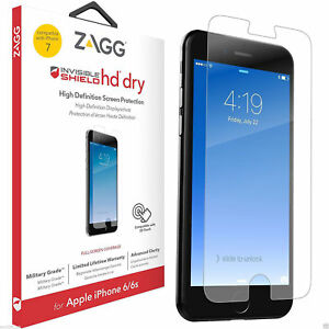 Official ZAGG InvisibleSHIELD iPhone 8 & 7 HD Dry Clear Screen Protector Guard