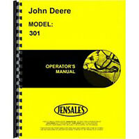 New Fits John Deere 301 Tractor Operator's Manual (w/ Loader)