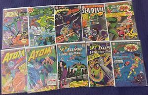 Vintage 1960's DC Detective Comics, Atom, Aquman, Green Lantern & More