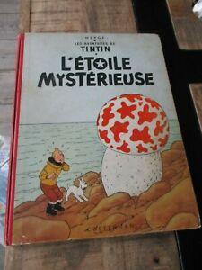 Hergé-Tintin-Bd l étoile mystèrieuse-dos rouge 4ème plat B27 bis-1955