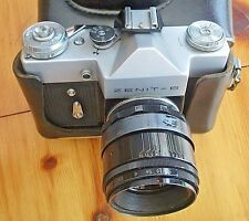 ZENIT-B FILM CAMERA  WITH HELIOS 44-2 LENS + LEATHER CASE