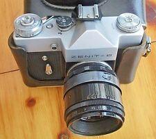 ZENIT-B film macchina fotografica con Obiettivo Helios 44-2 + Custodia in pelle