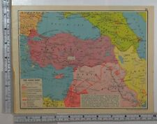 1941 WW2 MAP TURKEY SYRIA BRITISH EMPIRE ALLIED ADVANCES TRANSCAUCASIA