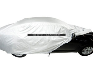 MCarcovers Fit Car Cover + Sun Shade for 1988-1992 Daihatsu Charade MBSF_17479