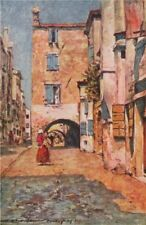 'In a side street, Chioggia' by Mortimer Menpes. Venice 1916 old antique print