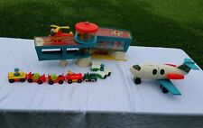 Vintage 1972 Fisher Price Play Family Airport Little People Set #996