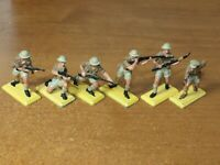 BRITAINS DEETAIL, 1970s, WW2, BRITISH 8th ARMY / DESERT RATS, 1/32 TOY SOLDIERS.