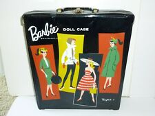 VINTAGE 1961 BARBIE PONY TAIL DOLL TRUNK - TM. LIC BY MATTEL CARRYING CASE EXC!!