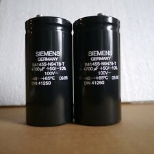 Pair of SIEMENS Capacitors 4700uF 100V Screw Mount 51x112mm NOS Quality