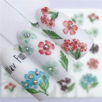 1 Sheets 3D Nail Art Transfer Stickers 3D Flower Decals Manicure Decoration Tips
