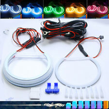 4 x Cotton SMD LED Angel Eyes Halo Rings Bulb Lamp Light for BMW E90 106mm+131mm