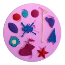 Sport Things 11 Cavity Silicone Mold for Fondant, Gum Paste, Chocolate, Crafts
