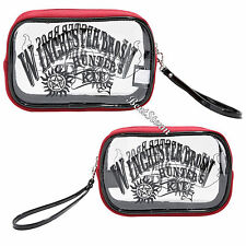 Supernatural Winchester Brothers Hunters Kit Cosmetic Make-Up Tote Bag Purse New