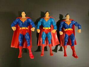 DC Universe Classics LOT OF 3 SUPERMAN Loose Figures Mattel, red eye variant +