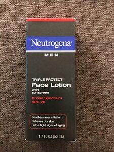 Neutrogena Men Triple Protection Face Lotion Broad Spectrum SPF 20 - 1.7 Fl Oz