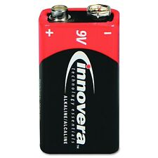 Innovera Standard Battery, 9V, Alkaline, Long Life - 4 pack x 2 = 8 Total